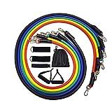 Bandas de resistencia de fitness 11pcs / set cadena de goma elástica desarrollador de cofres de gimnasio conjunto de tubos de resistencia banda Crossfit fitness goma