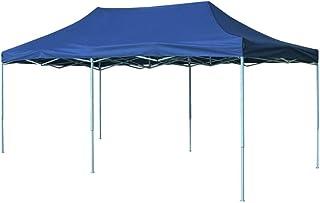 vidaXL Foldable Tent Pop-Up 3x6m Blue Outdoor Garden Gazebo Canopy Marquee