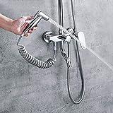 SS Badezimmerausstattung Dusche-Set, DREI-Gabel Viergang, Dusche Daumen Druck Griff, Handbrause