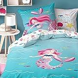 Sirena Chica Ropa de cama de franela · cama infantil · Mermaid Magic Moments · kuschelige...