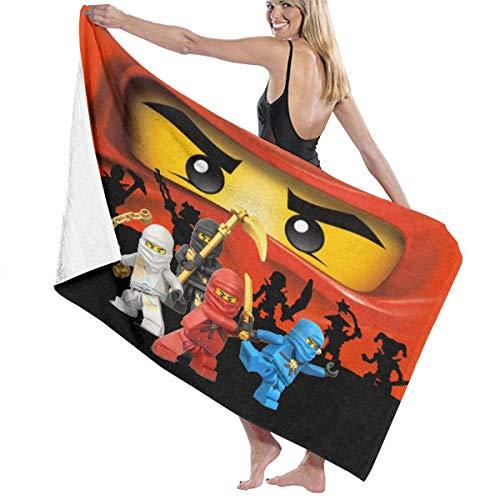 FETEAM Ninjago Masters of Spinjitzu Toalla de baño Toalla de Playa Uso como Yoga Viajes Camping Gimnasio Toallas de Piscina en Carrito de Playa Sillas de Playa Talla única ^ AQ2