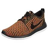 Nike Mens Roshe Two Flyknit Black/Black/White/Max Orange Running Shoe 10 Men US