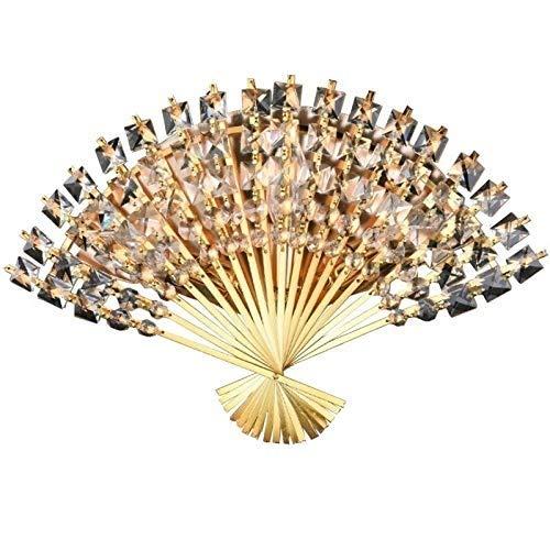 DINGYGJ Moderno Creativo Cristal en Forma de Ventilador lámpara de Pared de la habitación Corredor Corredor Corredor Dormitorio Pared del Hierro labrado Pared de la Sala de Estudio Corredor E14