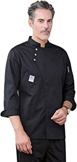 Enerhu Chef Apparel Jacket for Men Breathable Summer Chef Jackets Coat Sleeves Kitchen Uniforms Food Service Work Unisex