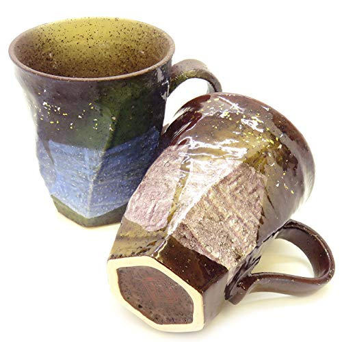 Kutani pair mugs silver gold and silver color flyer (japan import)