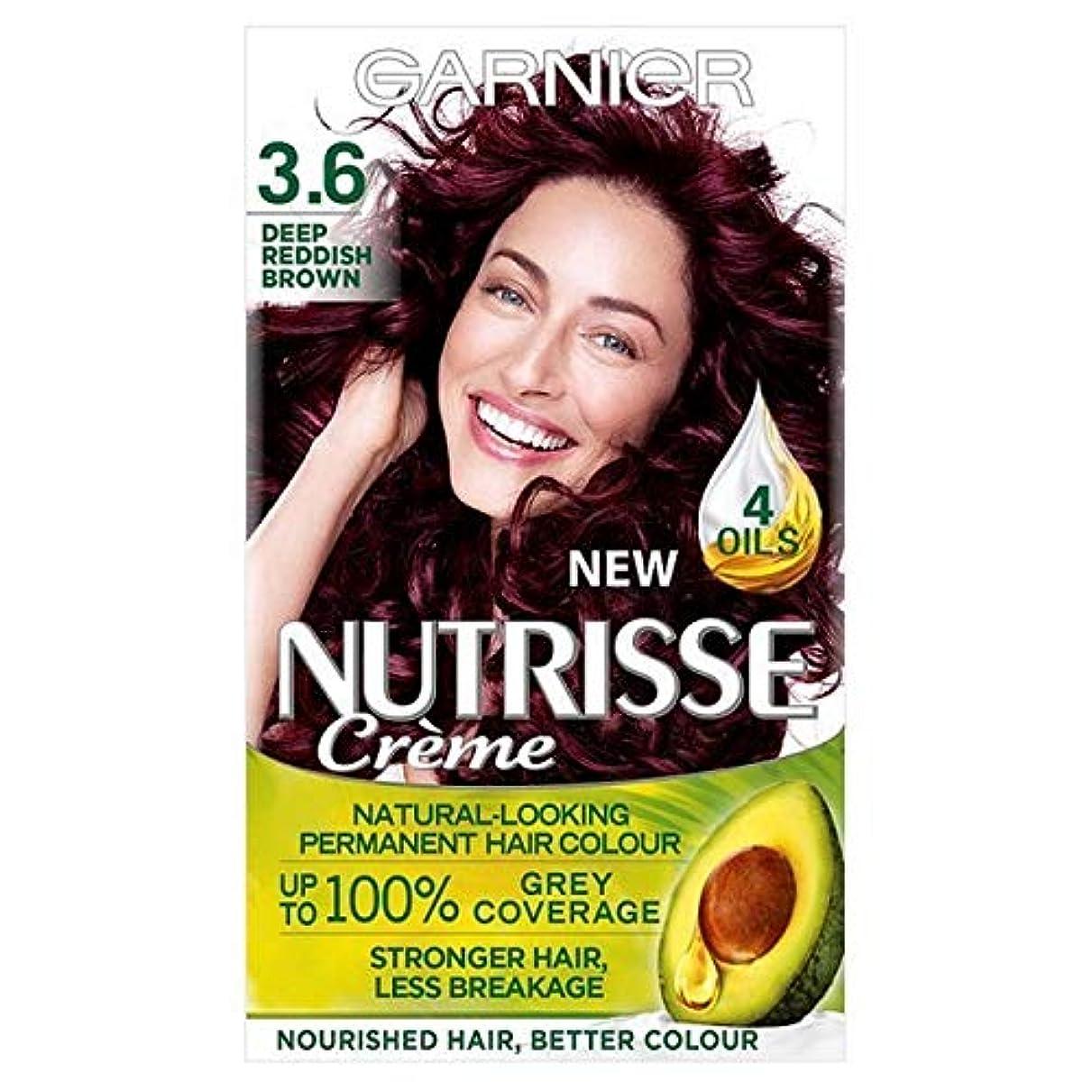 コースメロディー影響を受けやすいです[Garnier ] ガルニエNutrisse永久染毛剤深い赤褐色3.6 - Garnier Nutrisse Permanent Hair Dye Deep Reddish Brown 3.6 [並行輸入品]