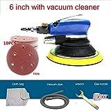 Ponceuse excentrique à air comprimé - Ponceuse multifonction + 10 disques abrasifs Velcro - Diamètre du coussin de ponçage 150 mm