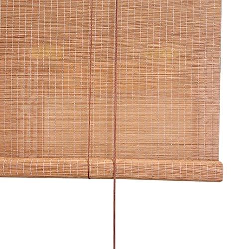Persianas enrollables Cortinas enrollables de bambú de 30/35/43/47/50 pulgadas para puerta de patio exterior, porche, balcón, patio trasero y casa de té, montaje interior y exterior (tamaño: 120 × 120