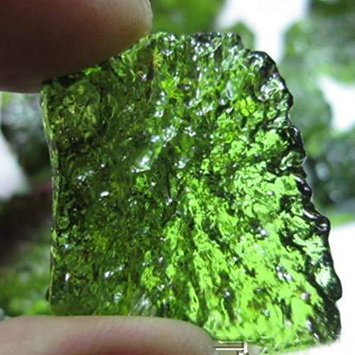 EASTCODE Fashion A++++ - Colgante de Roca Desnuda de meteorito checo Natural 100% Natural de moldavita Verde
