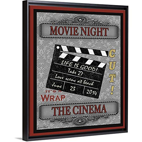 Movie Night-Movie Black Floating Frame Canvas Art, 13'x16'x1.75'