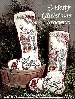Merry Christmas Stocking - Cross Stitch Pattern
