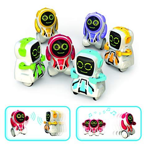 Ycoo by Silverlit - Pokibot 8 cm - Mini Robot Interactif qui Avance et Interagit avec d'autres Pokibot - Jouet avec Enregistrement de Messages