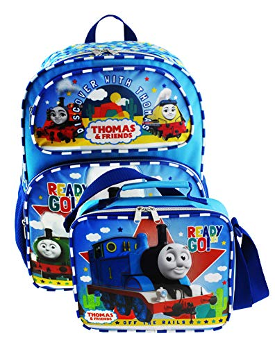Thomas the Train Deluxe Full Size 16 Inch Backpack with Insulated Lunch Tote