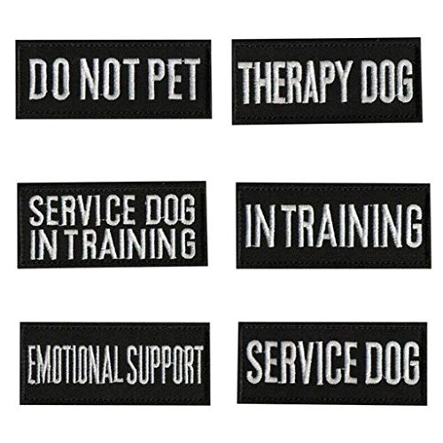 Weisfe78 Dog Patches for vest - for Service Dog, Service Dog In Training, Do Not Pet, Emotional Support, Therapy Dog, Best Friend, In Training for Animal Vest Harnesses, Collars, Leashes