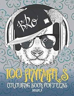 Mandala Colouring Book for Teens - 100 Animals