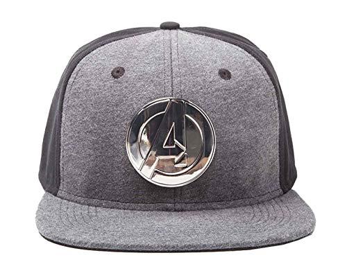 Marvel Avengers Baseball Cap Metal Logo Nue offiziell Schwarz Snapback