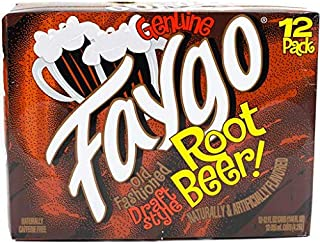 Faygo Root Beer Draft Style 12-ounce cans (pack of 12)