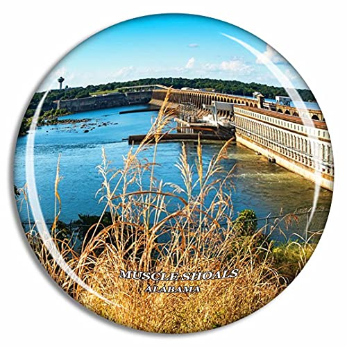 Crystal Fridge Magnets Muscle Shoals Alabama USA Travel Souvenir Funny Sticker for Gift Home Decoration Office Whiteboard