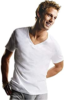 Hanes Men's 7 Pack Comfortsoft Tagless V-Neck T-Shirt (Bonus Pack)