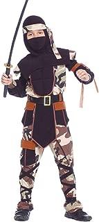 Boys Camouflage Ninja Warrior Samurai Army Khaki Military Book Day Fancy Dress Costume Outfit