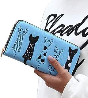 Luxury High Quality Women Cat Cartoon Wallet Creative Female Card Holder Casual Zip Ladies Clutch PU Leather Coin Purse