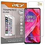 3X Protector de Pantalla para OPPO A54 5G - OPPO A74 5G - REALME Q3 5G - REALME Q3i 5G - K7, Cristal Vidrio Templado Premium