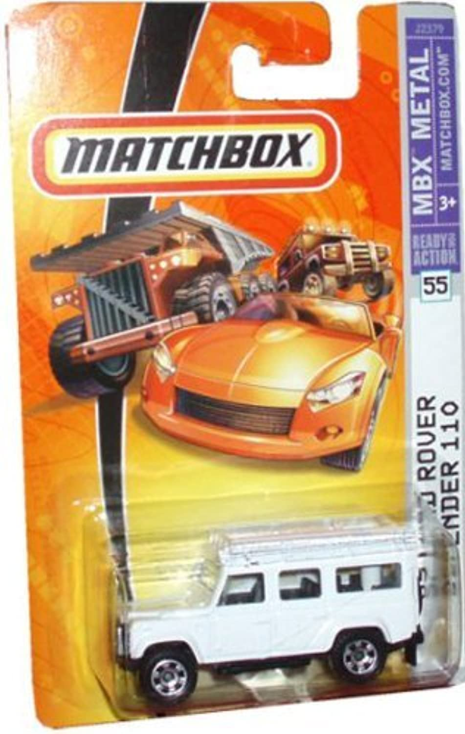 Mattel Matchbox 2006 MBX 1 64 Scale Die Cast Metal Car   55 - White 4 Wheel Drive Off-Road Sport Utility Vehicle 1997 Land Rover Defender 110 by Matchbox