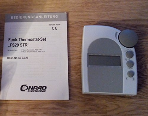 FS20 STR Funk-Raumthermostat Set: 1 Thermostat, 1 Funk-Schaltsteckdose, Batterien