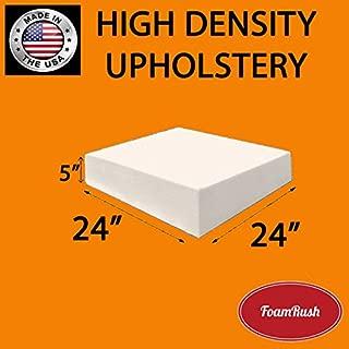 FoamRush Upholstery Foam Cushion High Density (Chair Cushion Square Foam for Dinning Chairs, Wheelchair Seat Cushion Replacement)(5