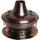 YUKM Pote Caliente a Prueba de Agua Que engrose el Enchufe del hogar de la Estufa de carbón de Doble propósito, Olla Caliente, Cocina multifunción,36cm