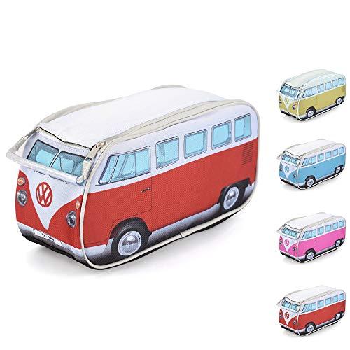 Board Masters Volkswagen Trousse de Toilette, Combi VW T1 Sac de Toilette et Trousse à Maquillage de Voyage, Unisexe, Rouge