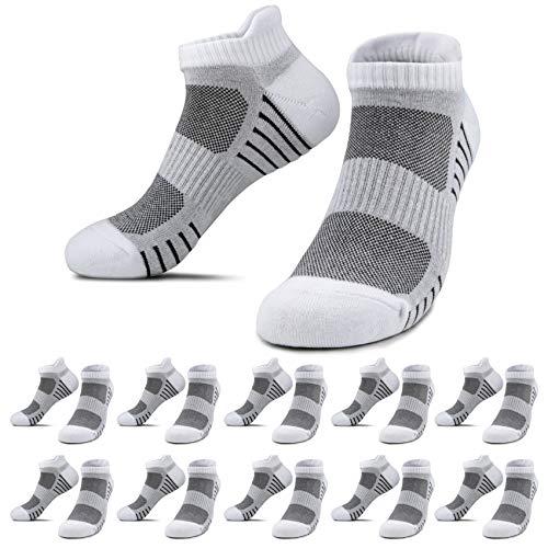 YouShow Sneaker Socken Herren Damen 10 Paar Kurze Halbsocken Quarter Weiß