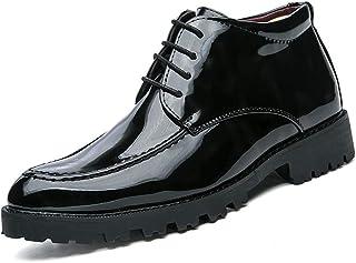 la mejor selección de Fuxitoggo Fuxitoggo Fuxitoggo botas de Martin de Cuero de Patente británica Casual Oxford para Hombre de Negocios con Zapatos de Felpa cálidos de Alta Ayuda (Color  Azul, Tamao  43 UE) (Color   Negro, tamao   39 EU)  orden ahora con gran descuento y entrega gratuita