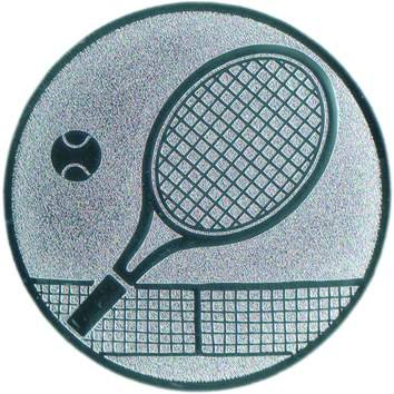 Pokal Emblem Tennis - 50 mm/silber