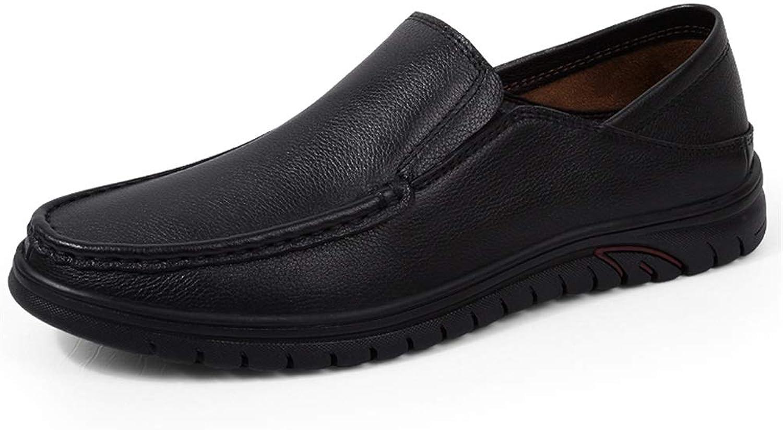 Männer Männer Männer Business Weiche Schuhe Oxford Driving Mokassin Casual Runde Kappe Echtes Leder Slip-on Müßiggänger Schuhe Gummi Außensohle,Grille Schuhe (Farbe   Schwarz, Größe   39 EU)  bd21e2