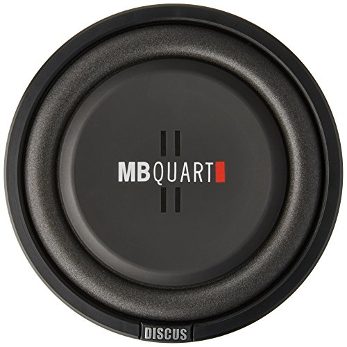 MB Quart DS1-254 Discus Shallow Mount Subwoofer (Black) – 10 Inch Subwoofer, 400 Watts, Car Audio, 2 Inch Voice Coils, UV Rubber Surround, Best in Sealed Enclosures