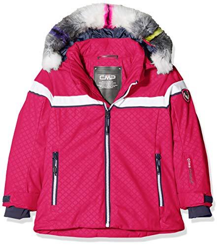 CMP Mädchen Wattierte 7000 Eco Fur Skijacke Jacke, Strawberry, 176
