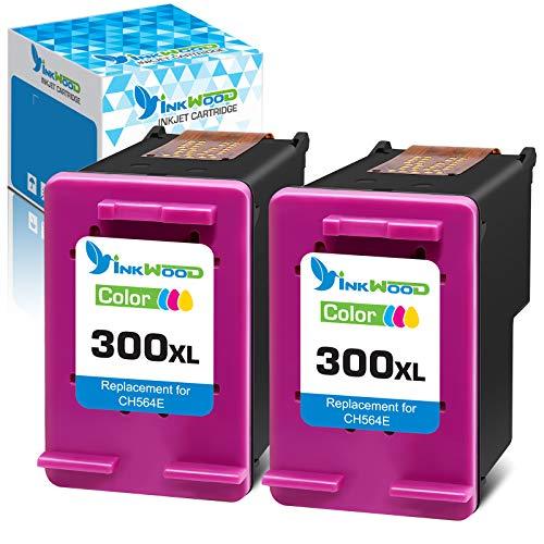 Inkwood Remanufactured 300XL Cartucho de Tinta 300 XL (2 Color) per HP PhotoSmart C4680 C4780 DeskJet F4580 F2480 F2400 F2420 F4280 F4500 D5560 Envy 100 F4500 C4780 120 D1658 D2530 D2566 D2568