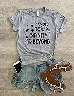 XSmall/Gray/To The Infinity And Beyond // Disney Toy Story T Shirt/Screen Printed W. Eco Ink/Cool T Shirt/Disney Trip T Shirt/Unisex Fit From Bella Canvas/Crew-Neck Shirt/Free Shipping/