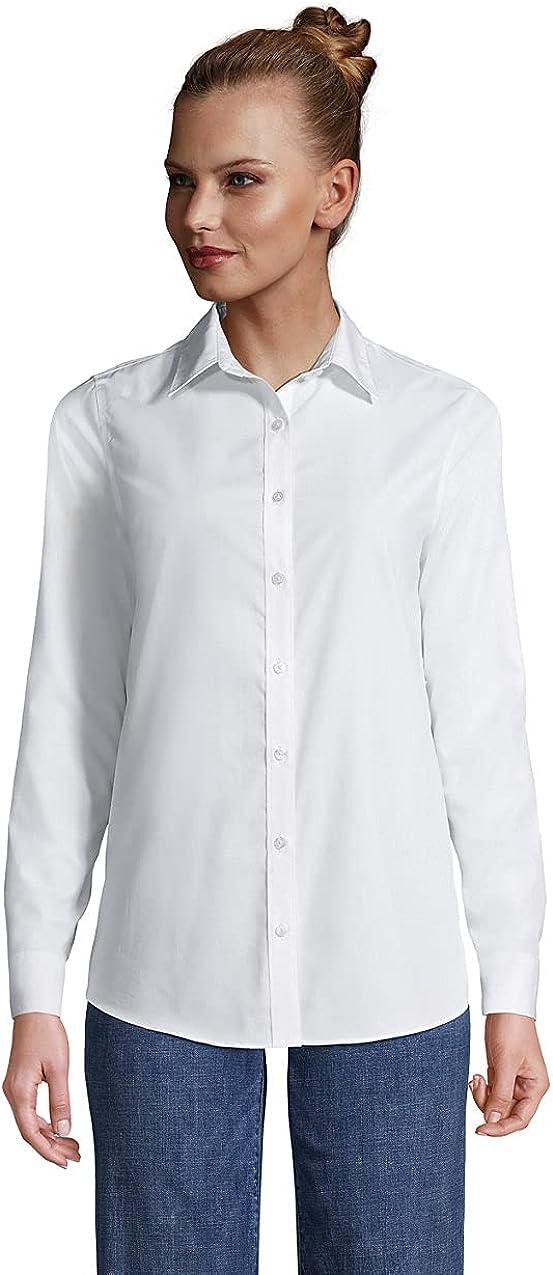 Lands' End Women's No Iron Supima Cotton Long Sleeve Shirt