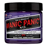 Manic Panic Electric Amethyst Hair Dye – Classic High Voltage - Semi-Permanent Hair Color - Medium Violet Purple With Blue Undertones - Vegan, PPD & Ammonia-Free - For Coloring Hair on Women & Men