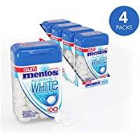 4-Pack Mentos Always White Sugar-Free Chewing Gum with Xylitol