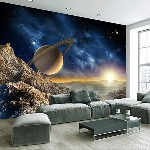 Tapete Kosmischer Satellitenberg Moderne Wanddeko Design Tapete Wandtapete Wand Dekoratio TV Hintergrundwand 450x300 cm