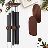 ASTARIN Wind Chimes Outdoor Large Deep Tone, Memorial Wind Chimes Outdoor, Gifts for Housewarming/Mother Day/Christmas, Outdoor Decor for Patio, Garden, Yard, Home (36 Inch Black Wind Chime)