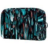 Bolsa de cosméticos para mujeres, adorables bolsas de maquillaje espaciosas para viajes, accesorios para artículos de tocador, regalos oscuro