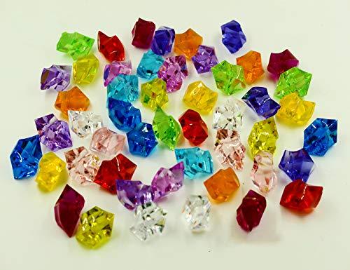 Oruuum 250pcs Bulk Pirate Jewels and Gems,Assorted Colors