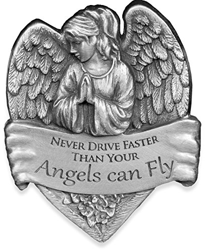 AngelStar 15731 Metal Visor Clip, 2-1/2-Inch, Never Drive Faster Than Your Angel Can Fly