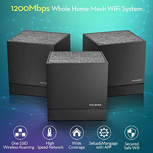 Whole Home Mesh System-Mesh WiFi System,1200Mbps Dual Band Mesh WiFi Router,Seamless Roaming with One SSID,MU-MIMO