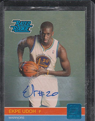 2010 Donruss Ekpe Udoh Warriors 59/399 Autographed Rated Rookie Basketball Card #233