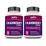 Zenith Nutrition Cranberry 800 mg- 120 Caps (60 Capsules X 2 Bottles)